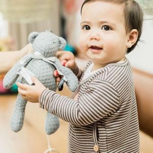 pozytywka misiu szary dla niemowląt