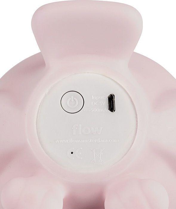 Lampka LED ścienna sowa różowa