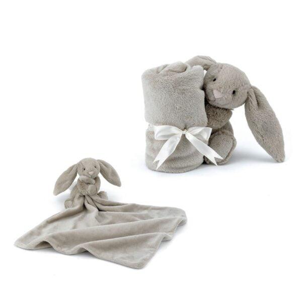 szmatka przytulanka królik beżowy