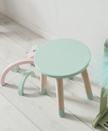 Krzesełko miętowe do pokoju dziecka