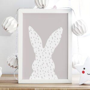 plakat do pokoju dziecka pastelowy królik