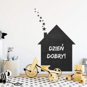 tablicowa naklejka na ścianę domek do pokoju dziecka