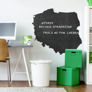 naklejka tablicowa w kształcie mapy polski