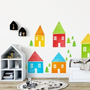 1 max 122 300x300 - Naklejki na ścianę kolorowe domki
