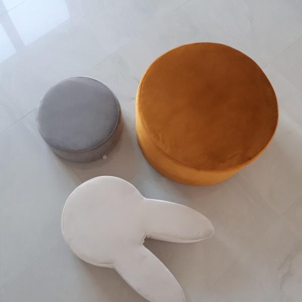 pufa królik dla dzieci kremowa