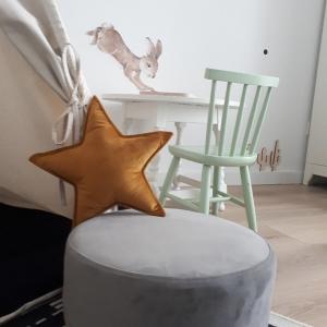 poduszka welurowa w kształcie gwiazdki