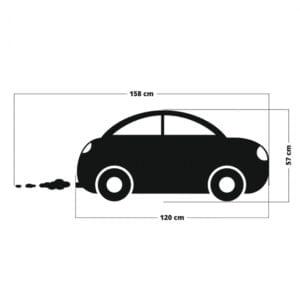 2 max 87 300x300 - Naklejka tablicowa na ścianę samochód