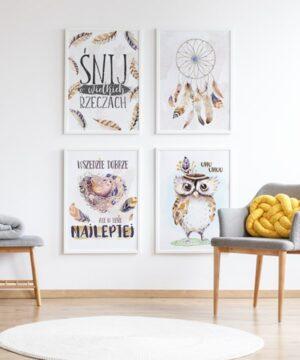 plakat do pokoju dziecka leśni przyjaciele