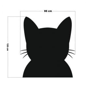 naklejka tablicowa do pokoju dziecka, tablica do pokoju dziecka w kształcie kota