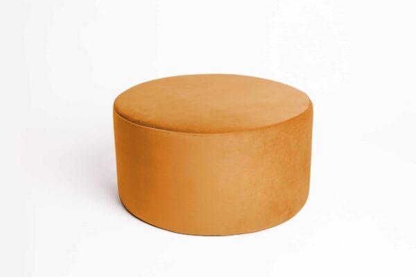 Pufa koło large żółty musztardowy