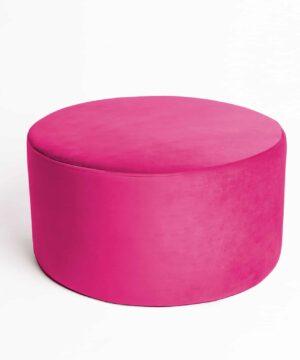 Pufa koło large pink