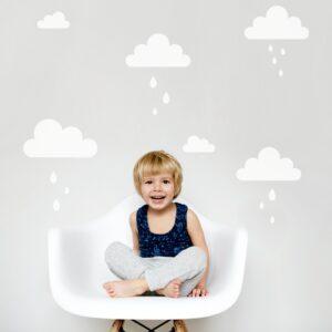 naklejki na ścianę chmurki do pokoju dziecka