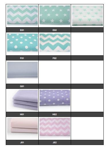 Cotton fabrics list 2 - Barierka do łóżeczka dziecięcego