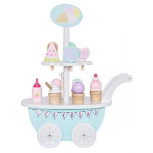 Drewniana lodziarnia na kółkach zabawka dla dzieci