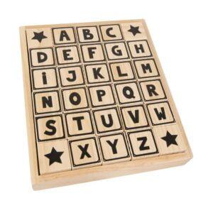 drewniane klocki dla dziecka