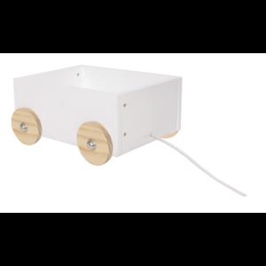 drewniany pojemnik na zabawki do pokoju dziecka