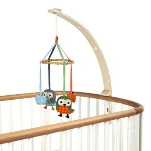 drewniany uchwyt na mobile do łóżeczka dziecka
