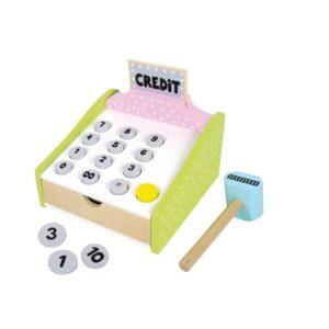 drewniana kasa fiskalna credit