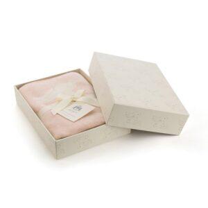 kocyk w kroliki rozowy 100x77cm 300x300 - Różowy kocyk dziecięcy w króliczki