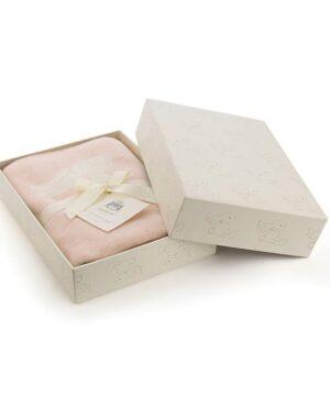 kocyk w kroliki rozowy 100x77cm 300x360 - Różowy kocyk dziecięcy w króliczki