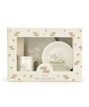 Zestaw obiadowy dla dziecka króliczek