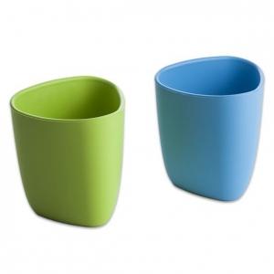 zestaw dwóch kubeczków z bioplastiku dla dzieci