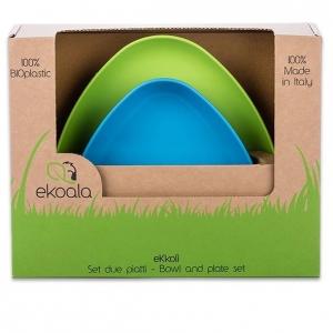 pol pl eKoala Zestaw Miseczka Talerzyk 100 BIOplastik Niebieski Zielony 805 2 300x300 - Miseczka i talerzyk z BIOplastiku niebieska i zielony