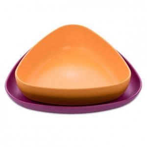 zestaw miseczka i talerzyk dla dzieci