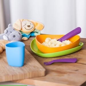 Zestaw naczyń dla dzieci z BIOplastiku kolorowy2