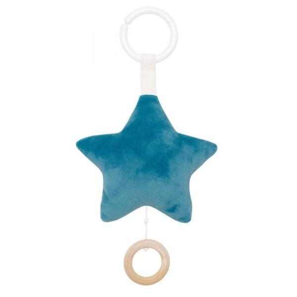 pozytywka zawieszka gwiazdka niebieska dla niemowląt