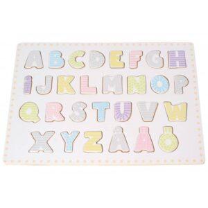 puzzle abecadło dla dzieci drewniana zabawka