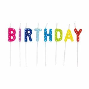 świeczki urodzinowe na tort happy birthday