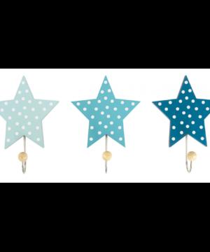Wieszak gwiazdki niebieski do pokoju dziecka