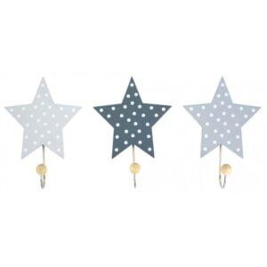 wieszaki szare gwiazdki do pokoju dziecka