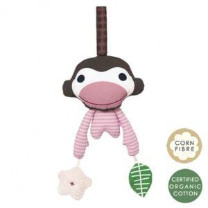 Zabawka edukacyjna różowa małpka