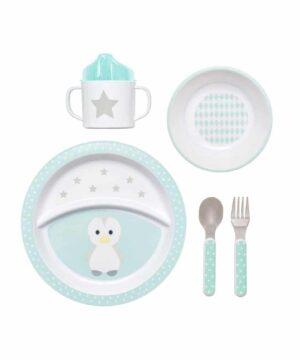 zestaw obiadowy pingwinek dla dzieci