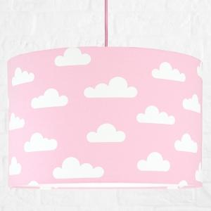 Lampa sufitowa chmurki na różowym