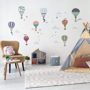 naklejki na ścianę do pokoju dziecka balony