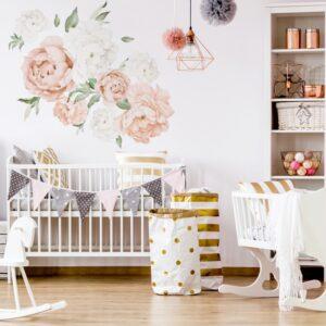 naklejki na ścianę nad łóżeczko, do pokoju dziecka, naklejki przy baldachimie, naklejki inspiracje
