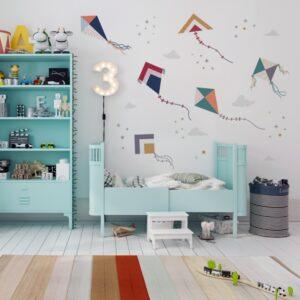 naklejki na ścianę do pokoju dziecka latawce