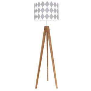 lampa podłogowa szare romby