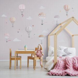 naklejki na ścianę latające balony, do pokoju dziecka