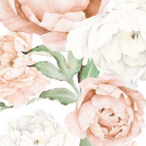 Drukowane naklejki na ścianę pastelowe piwonie wycinane z folii matowej. Piwonie w pastelowych kolorach będą się prezentować świetnie niemalże w każdym pomieszczeniu. Unikatowy wzór nada niepowtarzalnego charakteru w Twoim salonie lub sypialni. Może być również niezwykłą ozdobą w pokoju dziecięcym. Piwonie będą także wspaniałym prezentem dla wszystkich miłośników kwiatów i pięknych wnętrz. :) Dzięki samodzielnej kompozycji zyskujesz niezliczoną ilość możliwości aranżacyjnych. Naklejkę można dowolnie przyciąć - listki rozciąć, dopasować do piwonii (lub najpierw kleić listki póĹşniej piwonie). Naklejkę możesz umieścić na każdej gładkiej powierzchni.