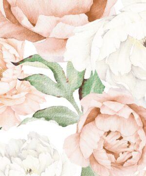 Drukowane naklejki na ścianę pastelowe piwonie wycinane z folii matowej. Piwonie w pastelowych kolorach będą się prezentować świetnie niemalże w każdym pomieszczeniu. Unikatowy wzór nada niepowtarzalnego charakteru w Twoim salonie lub sypialni. Może być również niezwykłą ozdobą w pokoju dziecięcym. Piwonie będą także wspaniałym prezentem dla wszystkich miłośników kwiatów i pięknych wnętrz. :) Dzięki samodzielnej kompozycji zyskujesz niezliczoną ilość możliwości aranżacyjnych. Naklejkę można dowolnie przyciąć - listki rozciąć, dopasować do piwonii (lub najpierw kleić listki później piwonie). Naklejkę możesz umieścić na każdej gładkiej powierzchni.