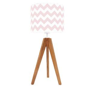 lampa na stolik zygzak różowy