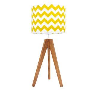 lampa na stolik zygzak zółty