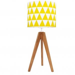 lampa na stolik żółte trójkąty