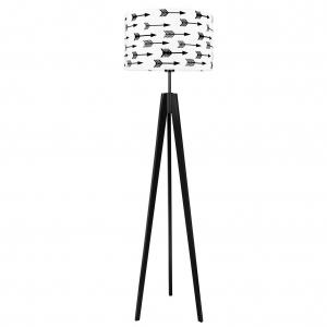 czarno biała lampa podłogowa do pokoju dziecka, lampa w stylu skandynawskim