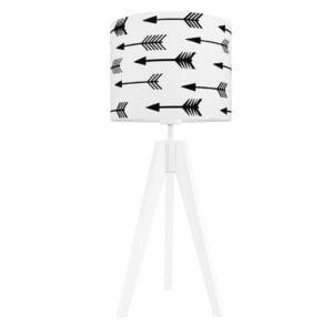 lampa na stolik czarne strzałki