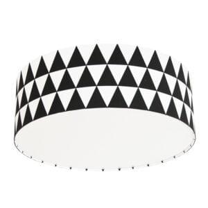 czarno biała lampa do pokoju dziecka w stylu skandynawskim